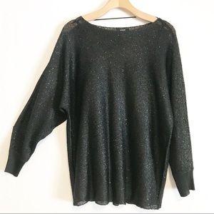 Alfany black long sleeve top